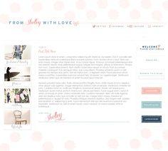 Custom Blog Design - From Shelley with Love.  Smitten Blog Designs.