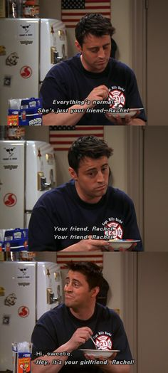 The One Where Chandler Takes a Bath #friends joey
