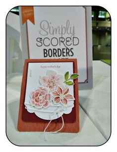 This is one of the cards I saw at Stampin' Up! Leadership Convention 2013 using the NEW Simply Scored Borders Plate. I was just so impressed with it. What do you think?