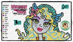 Pontinhos Mágicos: Gráficos Monster High.