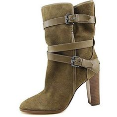 """COACH BOOTS Coach chic suede mid-calf boot. Has a coach emblem on the back of the boot. Round toe front with buckles on the side for easy on and off. Shaft measures 7"""", circumference measures 12.5"""" and the heel measures 3.75"""". Coach Shoes Heeled Boots"""