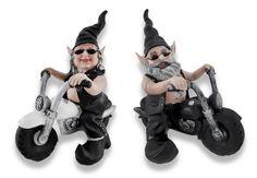 Gnoschitt and Gnofun Ride Again Pair of Motorcycle Riding Biker Gnomes   bikeraa.com