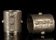 Africa | Pair of bracelets from the Oasis of Amun-Siwa, Egypt | Silver | ca. 1950 | 390€ for the pair ~ sold
