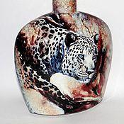 Посуда ручной работы. Ярмарка Мастеров - ручная работа Бутылка Африка. Handmade.