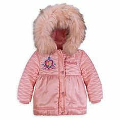 Disney Anna and Elsa Deluxe Jacket for Girls - Frozen - Personalizable | Disney StoreAnna and Elsa Deluxe Jacket for Girls - Frozen - Personalizable - She'll stay warm as spring through wintry winds in this luxurious quilted satin jacket. Furry duotone hood trim, shimmering Frozen embroidery, faceted gem snaps and personalization options make this coat extra-puffy with premium trims!