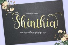 Hello All!! Introducing Shinthia Font Duo is the font style handmade dancing and then live trace to have unique forms of calligraphy, the writing style is very natural. The Features of this fonts is;  Standard ligatures Stylistic Alternates Stylistic sets Swash PUA Unicode (Private Use Areas) File Font Duo Shinthia Include: Shinthia OTF Shinthia TTF Shinthia WEB (EOT, SVG, WOFF) Monoline TTF Monoline TTF