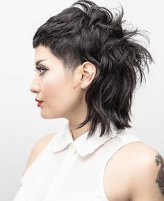 50 Most Universal Modern Shag Haircut Solutions Edgy Hair gestuft Haircut modern Sha Shag Solutions Universal Edgy Short Haircuts, Short Shag Hairstyles, Short Hair Cuts, Short Bangs, Black Hairstyles, Short Punk Hair, Hairstyles Haircuts, Hair Cuts Edgy, Gothic Hairstyles