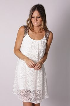 johanna lace tunic- ivory - and this pretty number is added to my closet :)