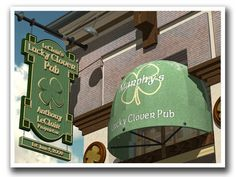 Personalized Lucky Clover Pub Retro Sign Art Print by FantaSigns, $29.95 #NeonSign #Art #Personalized