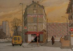 Carte postale André Juillard : Tour Eiffel de la porte d'Ivry