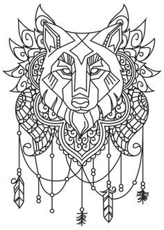 Watercolor Wolf Design Drawings Urban Threads Embroidery Patterns Wolves Templates Coloring Role Models