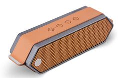 アルミと革でデザイン性を高めた、aptX対応Bluetoothスピーカー「Harmony」 - AV Watch