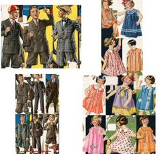 1920's Boys and Girls Childrens Clothes from 1924 and 1925