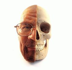 This Walter White piece is great, don't get us wrong, but isn't Gus the character with half his face missing? #inked #breakingbad #walterwhite #skull #halfface #skulls #art