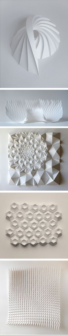 New origami architecture landscape paper art Ideas Origami And Kirigami, Art Origami, Diy And Crafts, Arts And Crafts, Paper Crafts, Paper Engineering, Paper Folding, Book Folding, 3d Paper