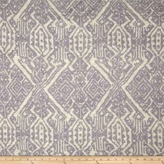 Designer Slub Rayon Jersey Knit Culture Print Grey/Cream from @fabricdotcom  This jersey knit fabric has a soft hand, fluid drape and about 25% stretch across the grain. This versatile fabric is perfect for creating stylish tops, tanks, lounge wear, gathered skirts and fuller dresses with a lining.