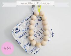 Diy Wood Bead Potholder