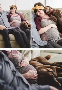 Sweet Lifestyle Maternity Shoot at home with the Dog Via Andrea Patricia Photography: Maternity: Ellen + Hendo #MaternitySession