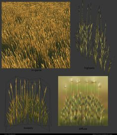 Low Poly Wheat