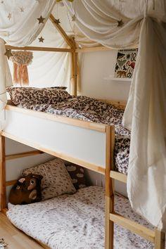 Baby And Toddler Shared Room, Ikea Kura Bed, Kids Room Design, Little Girl Rooms, Kids House, Kids Bedroom, Room Decor, Kidsroom, Ikea Hack