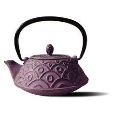 Kyoto Cast Iron Teapot Wine - 1013GW, Old Dutch International
