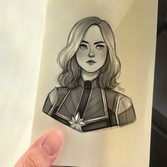 """maxyartwork: """"really wanted to use my new little captain marvel sketchbook and find out if i was able to draw in such small space """" also this is the cover of the sketchbook that's why i called it. Art Drawings Sketches Simple, Easy Drawings, Carol Danvers Captain Marvel, Sherlock, Avengers Painting, Marvel Canvas, Avengers Drawings, Marvel Paintings, Captain Marvel Costume"""