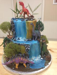 Dino Birthday Cake