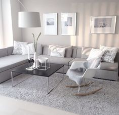 Simple And Small Living Room Designs With Modern Interior - Living Room Grey, Home Living Room, Living Room Decor, Bedroom Decor, Cozy Living, Small Living, Living Area, Master Bedroom, Apartment Interior