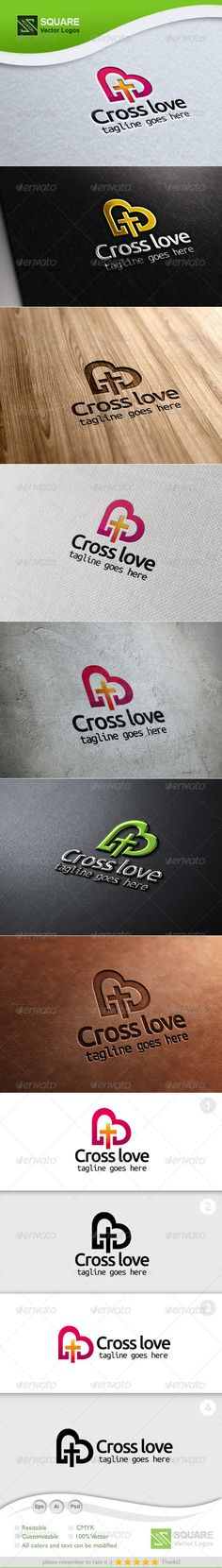Cross, Love Vector Logo Template  #GraphicRiver        File Description This is custom logo template. Illustrator (AI), Photoshop (PSD), Vector (EPS) logo files included in this download. You can customize to your own branding. All colors and text can be modified. It is suitable for love, symbol, heart, Cross Point, Christ, christian, church, logo, cross, community related logos.  FEATURES   The Logo Is 100% Vector  100% Customizable  Fully Layered Logo Template  CMYK   Gradient version…