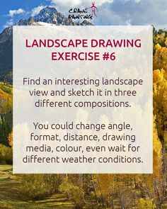 Let's practice some of the trickier parts of sketching those pretty nature views with these simple landscape drawing exercises for beginners and pros. Daily Drawing, Drawing Skills, Drawing Tips, Landscape Drawing Easy, Landscape Sketch, Art And Hobby, Drawing Exercises, Perspective Drawing, Nature View