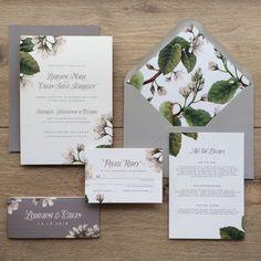 Almond Blossom Wedding Invitations