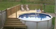 Above ground pools can be even more beautiful than their expensive counterparts!