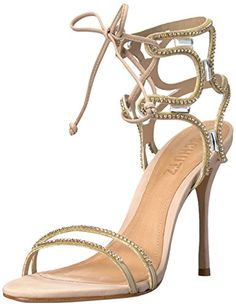 928c91fc0286d4 Schutz Womens Cristen Dress Sandal TaninoOurio ClaroCristal 75 M US     You  can find