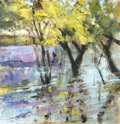 """Trees in the Water"" - Original Fine Art for Sale - © connie snipes"