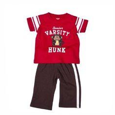 Carter's Boys Red and Brown Junior Varsity Hunk Pant Set