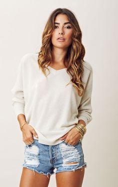 360sweater| julietta v-neck cashmere sweater