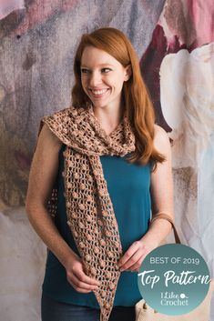The Top 50 Crochet Patterns of 2019 Crochet Designs, Crochet Patterns, Rose Bay, Broomstick Lace, Popular Crochet, Dusty Rose Color, Classic Wardrobe, Scarf Patterns, Color Pairing
