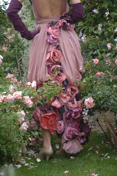 ❀ Flower Maiden Fantasy ❀ beautiful art fashion photography of women and flowers - blooming dress
