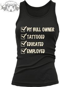 CHECKMARK TATTOO PIT BULL OWNER - WOMEN'S JERSEY TANK from Pit Bull Gear