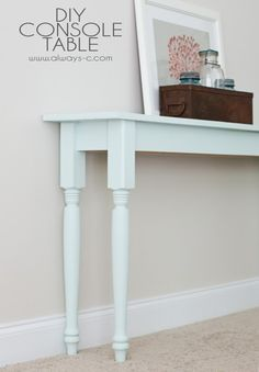 DIY Space-Saving Console Table | Shelterness