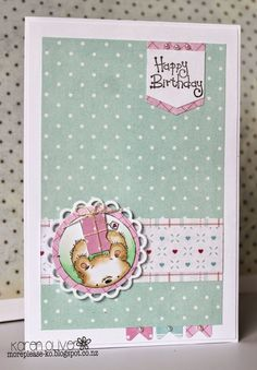 Well its a miserable wet cold evening here.  But here's a little card to cheer you up.  Its my second May card for the LOTV  Design Collecti...