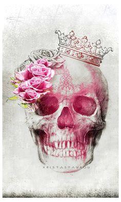 54 Ideas For Tattoo Ideas Skull Flower Thigh Piece Skull Couple Tattoo, Skull Tattoo Flowers, Skull Girl Tattoo, Sugar Skull Tattoos, Dragonfly Tattoo, Reine Art, Feminine Skull Tattoos, Historical Tattoos, Skeleton Art