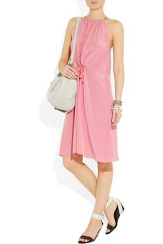 Mulberry Drawstring silk-crepe dress - 63% Off Now at THE OUTNET