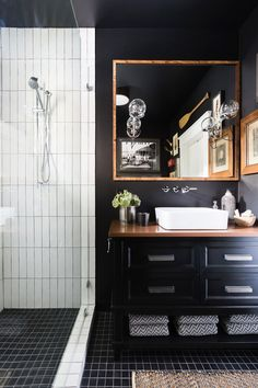 These Are the Chicest Tiny Bathrooms We've Ever Seen via @MyDomaine. Design: Sean Anderson