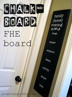 chalkboard Family Home Evening board {tutorial}