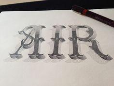 AIR - Hand lettering by Xavier Casalta, via Behance