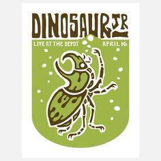graphic beetle, band poster Dinosaur Jr.