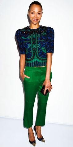 zoe saldana style | Zoe Saldana - Look of the Day - InStyle