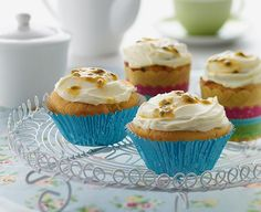Apple Passionfruit Cakes with PHILLY Frosting
