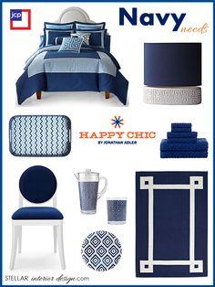 Happy Chic by Jonathan Adler, JCP, Navy Home Décor, e-décor, e-design, Online Interior Design Services